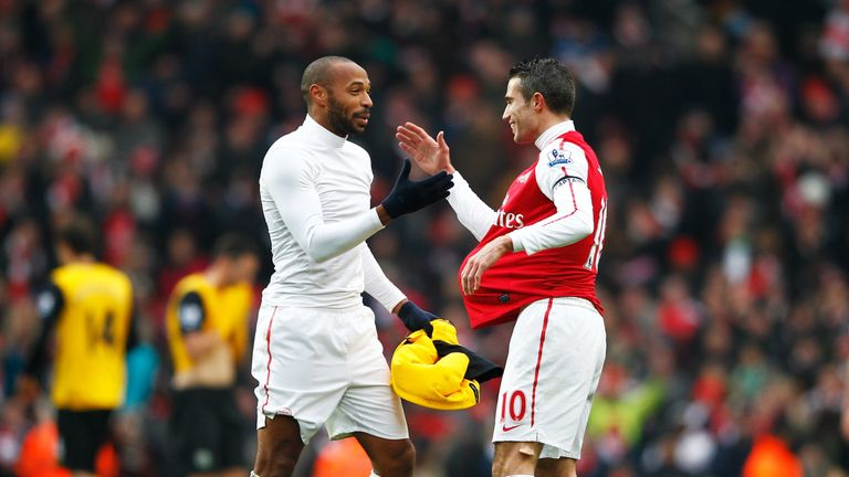 Thierry Henry and Robin van Persie will appear at Kompany's testimonial