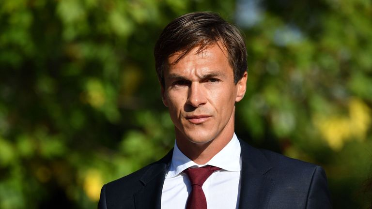 Thorbjorn Olesen arrives at Isleworth crown court in west London