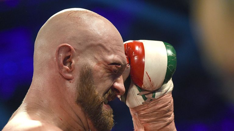 Fury endured a terrible cut against Wallin