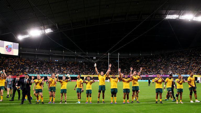 The victory was vital for Australia in Rugby World Cup Pool D
