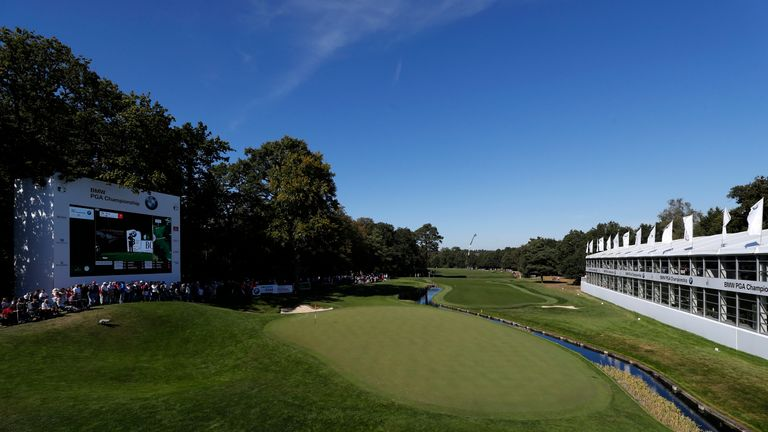 The 18th hole at Wentworth dazzles in the autumn sunshine