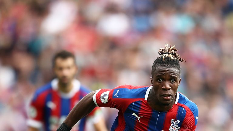 Wilfried Zaha was the subject of rejected bids by Arsenal and Everton