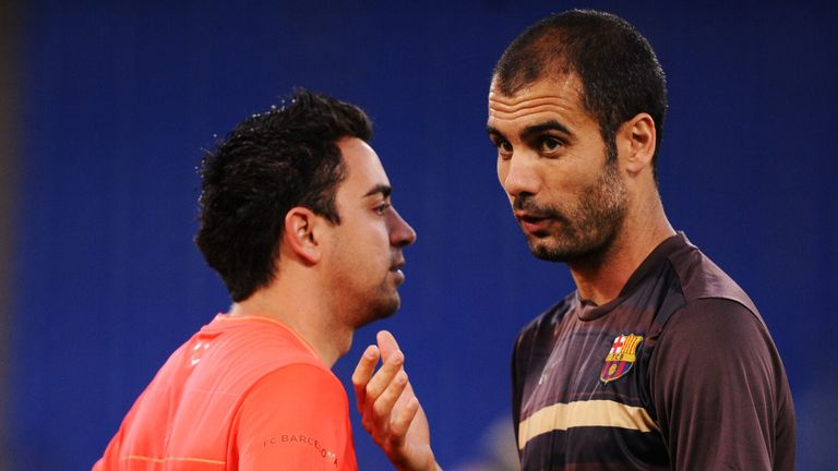 Xavi worked under Pep Guardiola for four seasons