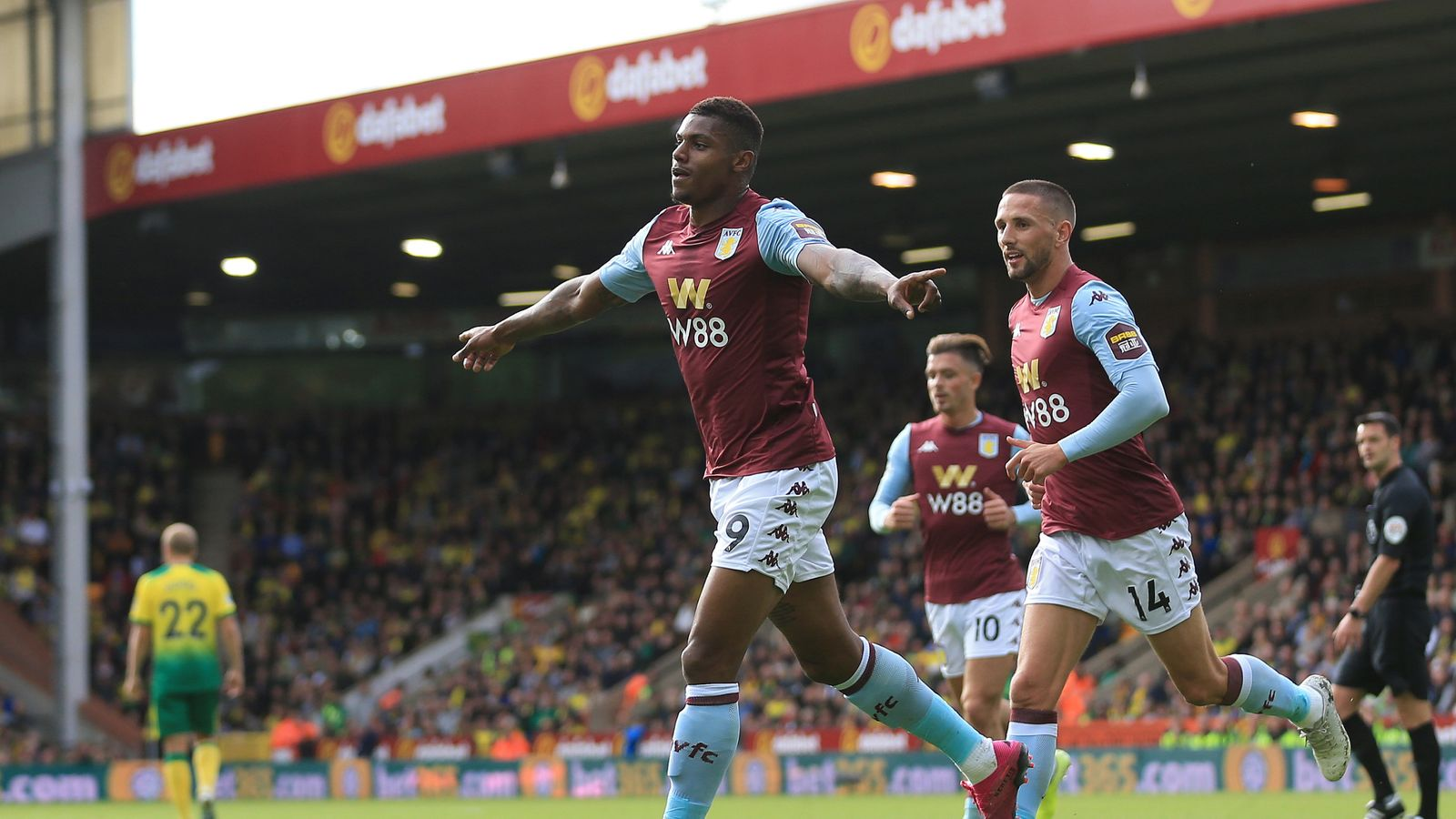 Norwich 1-5 Aston Villa: Wesley scores twice as Canaries thrashed at Carrow Road