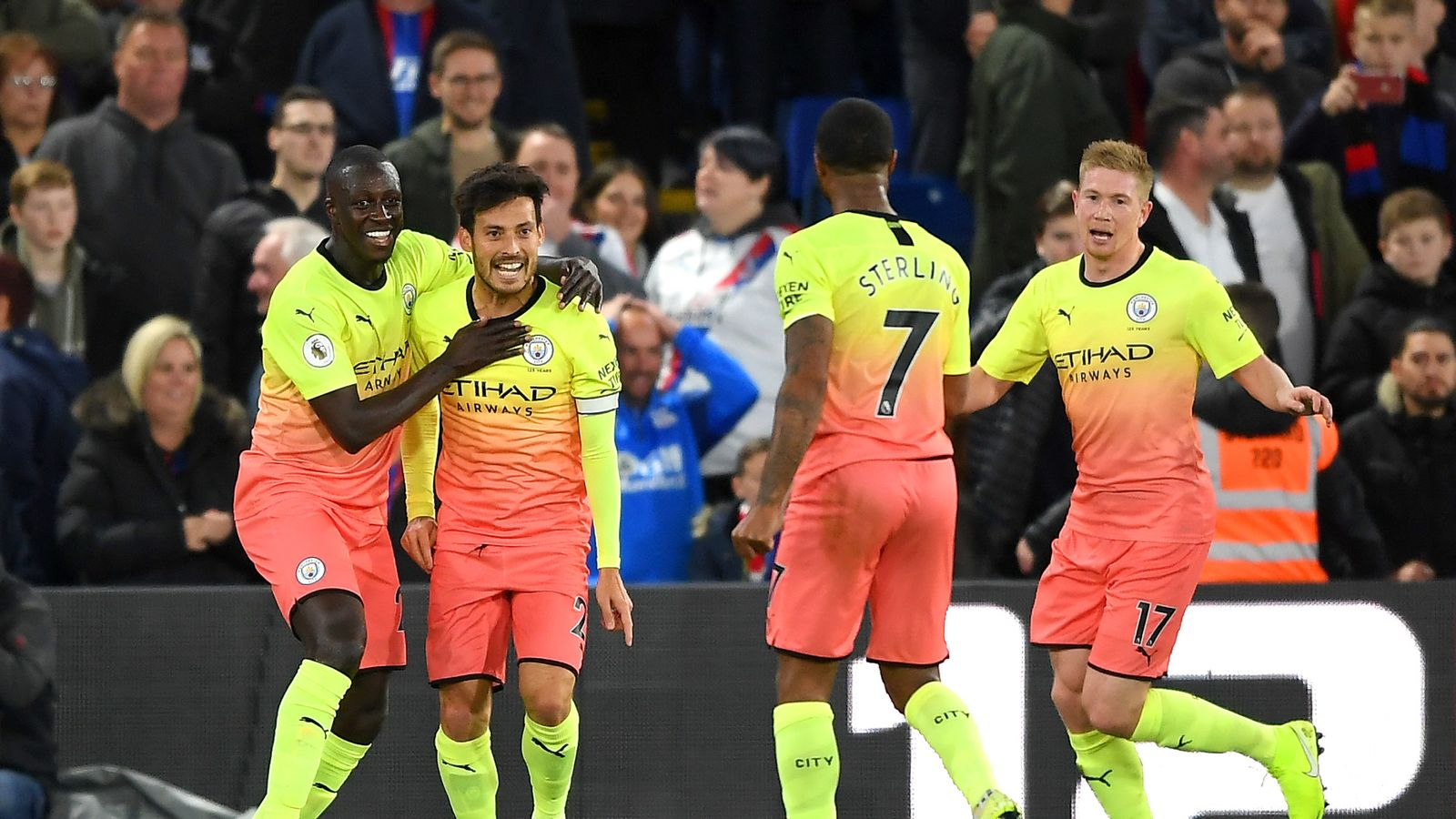 Crystal Palace 0-2 Manchester City: Pep Guardiola's side back on track after nervy win