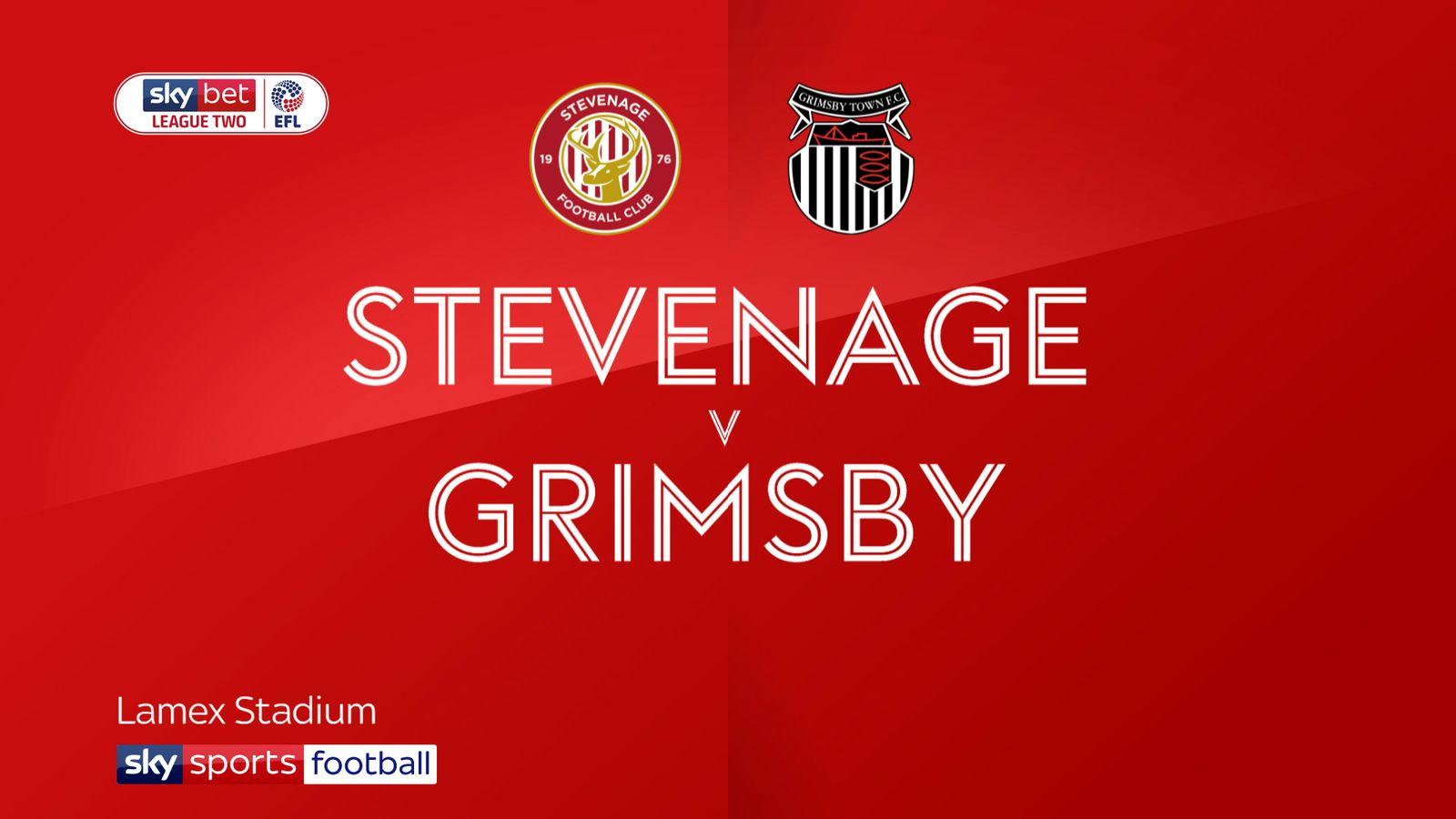 Stevenage 2-1 Grimsby: Mark Sampson's Boro record first win of the season