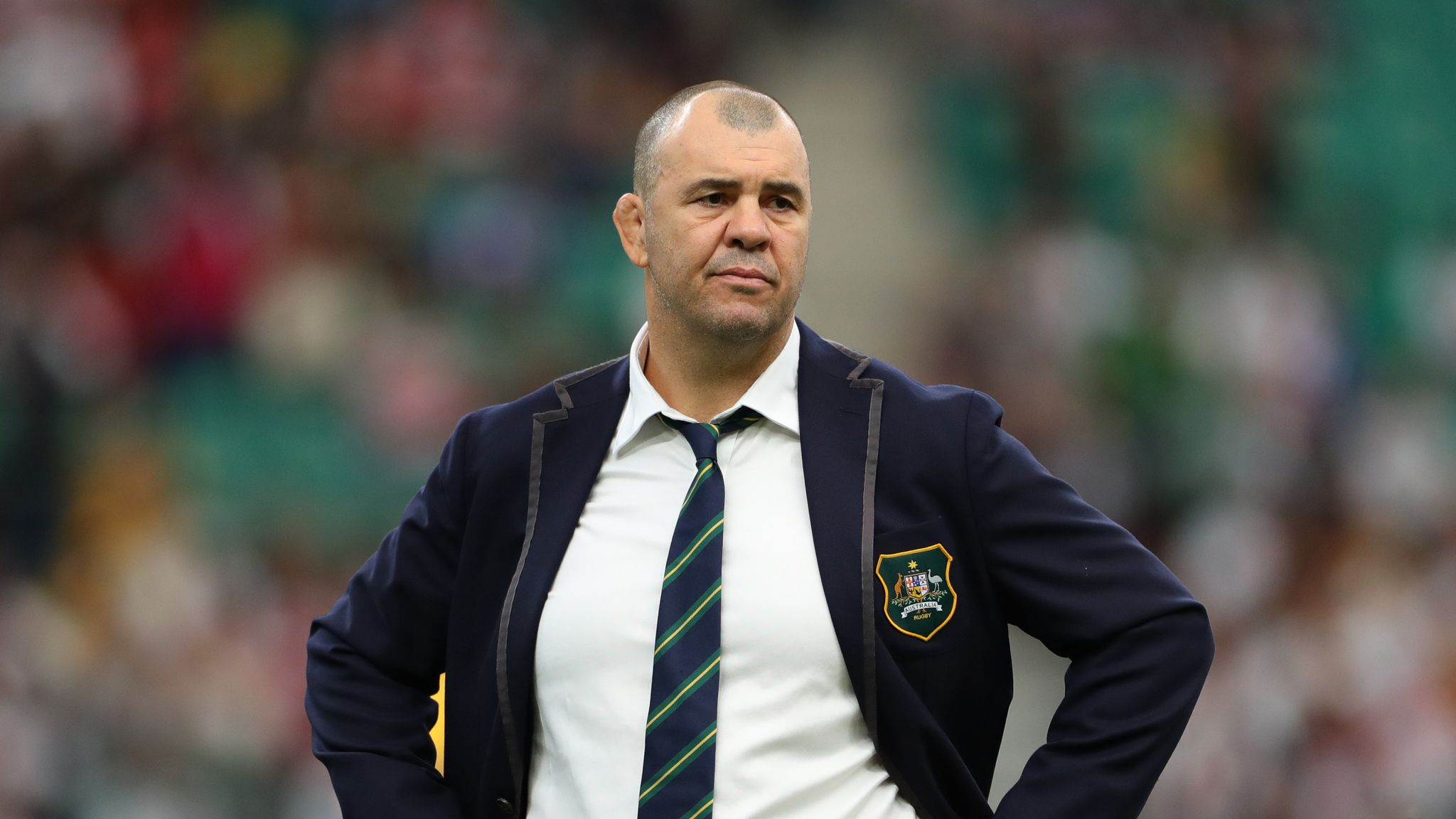 Australia coach Michael Cheika upset by questions on future
