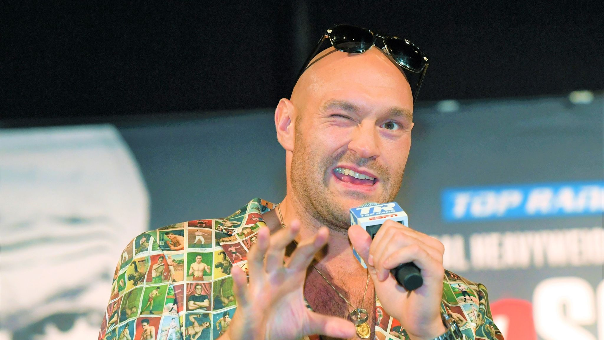 WATCH: Tyson Fury press conference ahead of WWE debut
