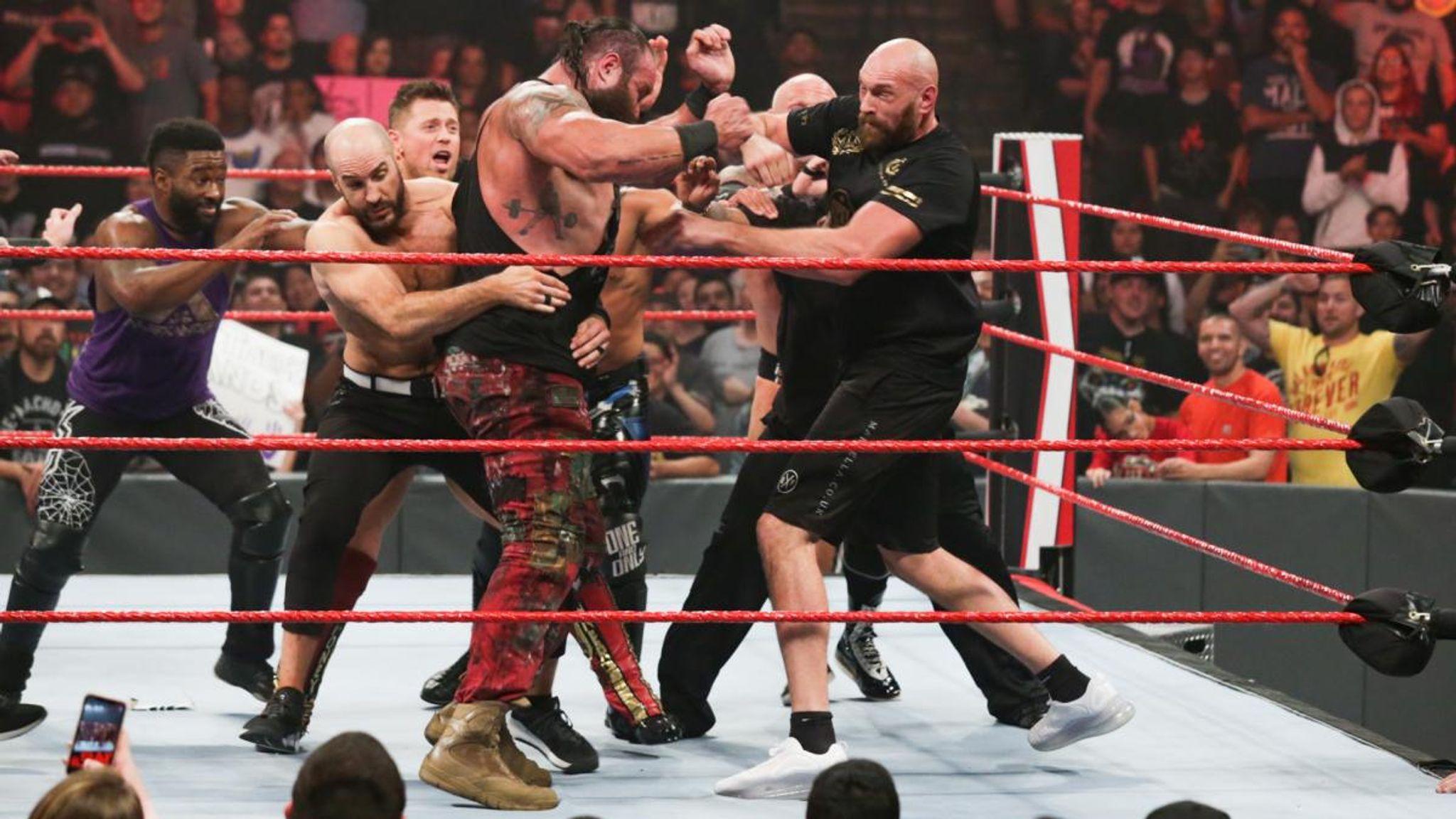 Tyson Fury involved in huge brawl on WWE Raw