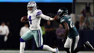 Dak Prescott led the Dallas Cowboys to a return to winning ways as well as a new franchise record for rushing touchdowns by a quarterback