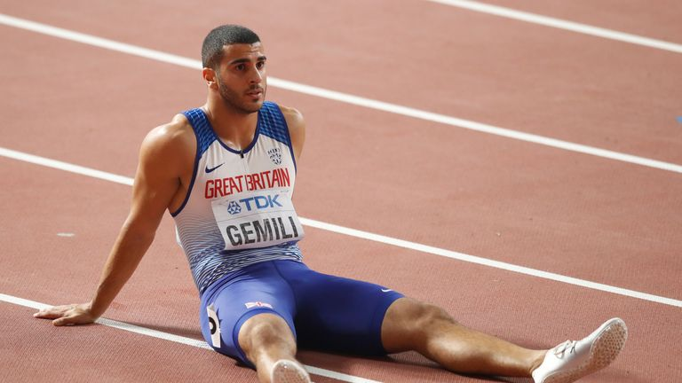 Great Britain's Adam Gemili says social distancing guidelines have impacted athletes' training schedule