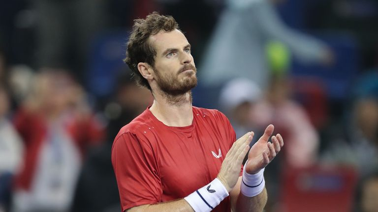Andy Murray set up a second-round showdown with Fabio Fognini after a three-set win on Monday