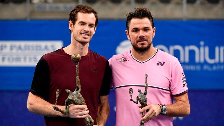 Murray beat Stanislas Wawrinka in the Antwerp final 3-6, 6-4, 6-4