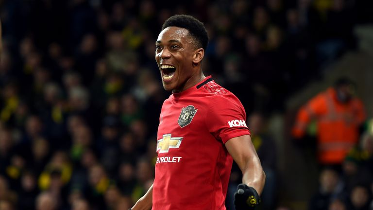Anthony Martial missed a penalty and scored the third goal at Carrow Road