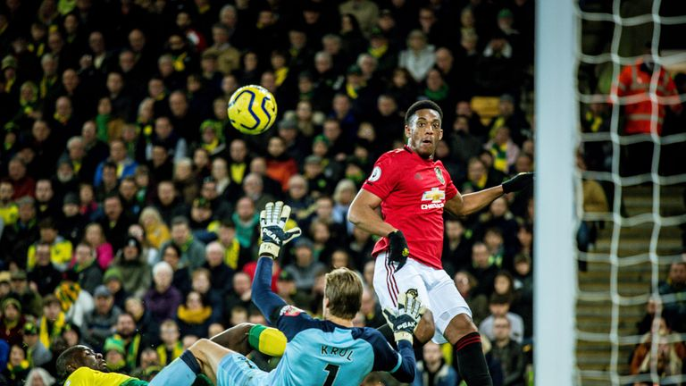 Martial produced a deft finish to score United's third goal