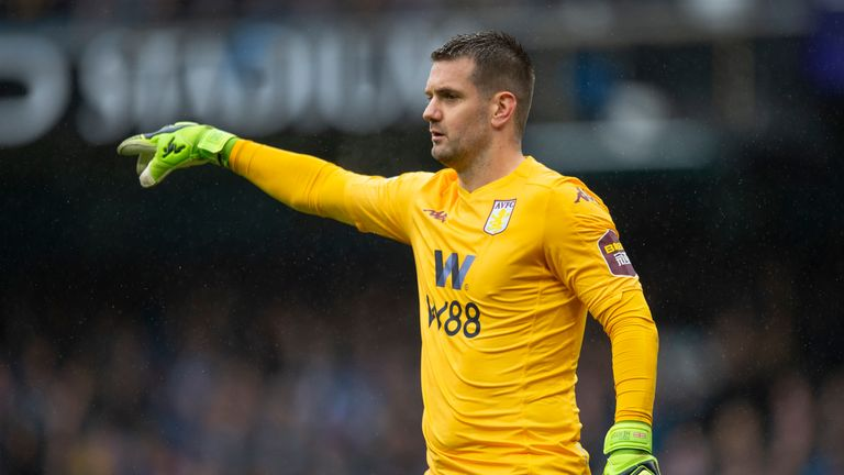 Aston Villa 'keeper Tom Heaton could be re-registered to play for in the season run-in