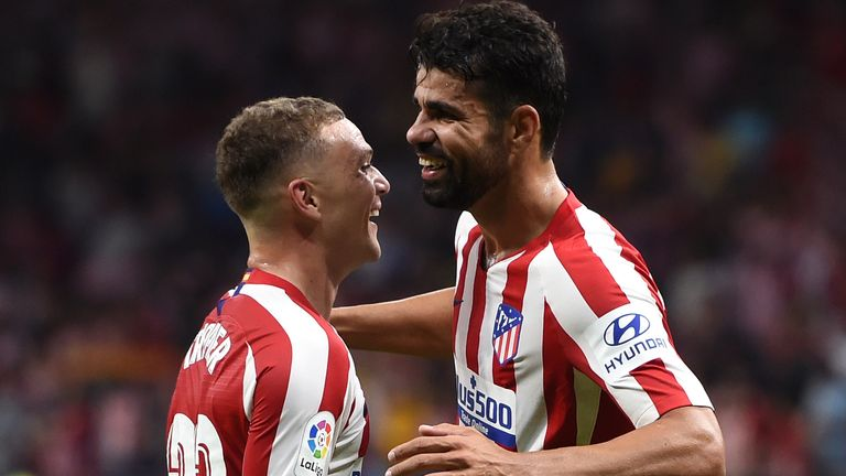 Kieran Trippier says Diego Costa has helped him settle into the squad at Atletico
