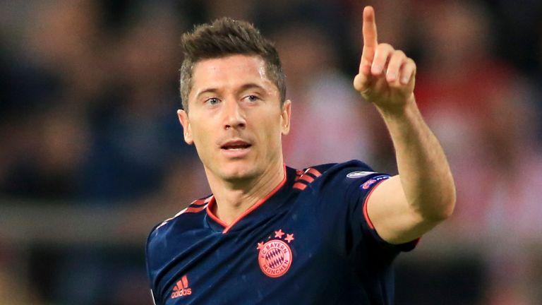 Robert Lewandowski scored twice as Bayern Munich beat Olympiakos