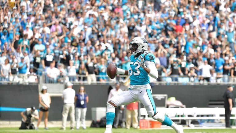 Brian Burns returned a fumble for a touchdown last week