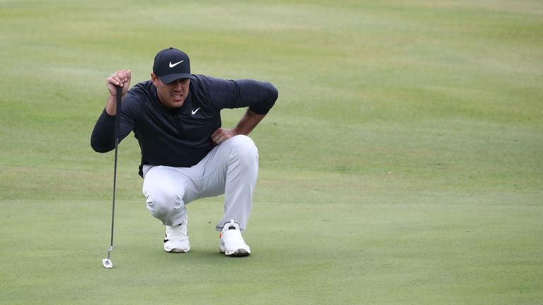 Brooks Koepka withdrew from the CJ Cup with a knee injury