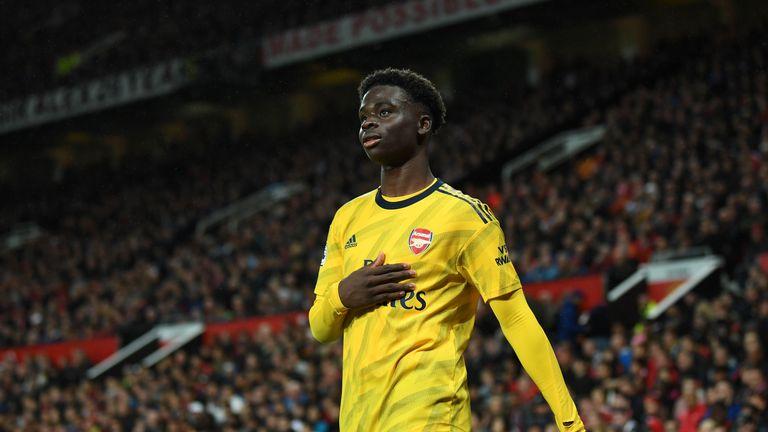 Saka shone for Arsenal against Manchester United
