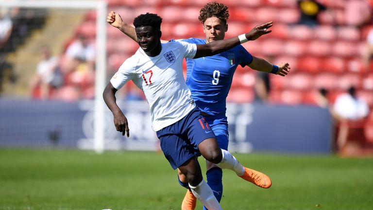 Saka has represented England at U16, U17, U18 and U19 level