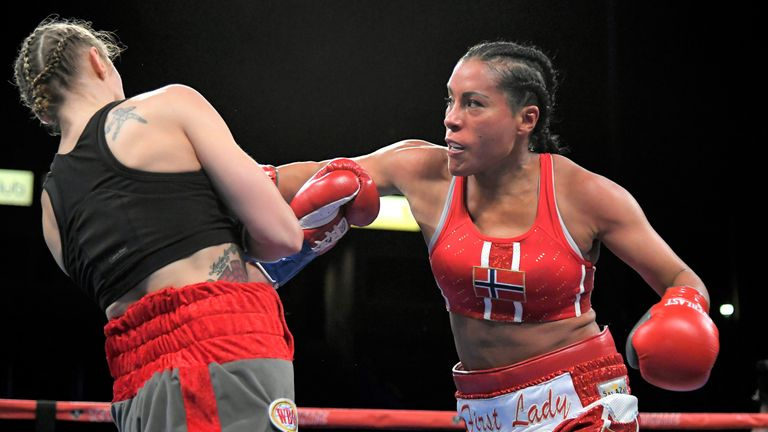 Cecilia Braekhus puts her four major world titles at stake