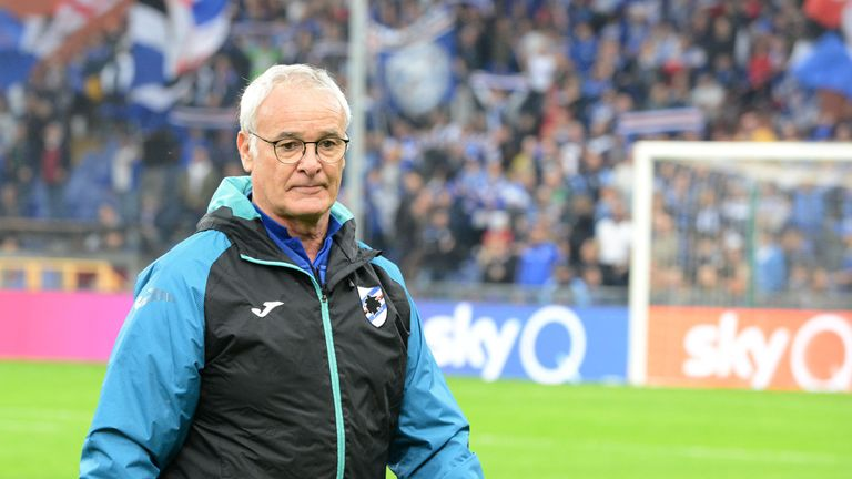 Claudio Ranieri took charge of Sampdoria for the first time on Sunday