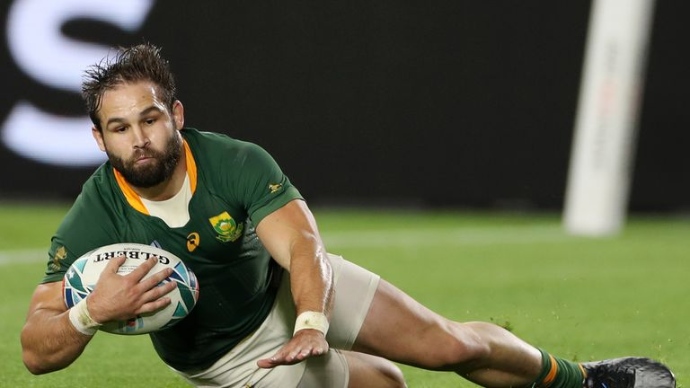 Cobus Reinach scored a hat-trick as South Africa put away Canada in Kobe