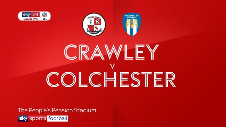 Crawley 2-1 Colchester: Reece Grego-Cox on target as Reds win first league game in five