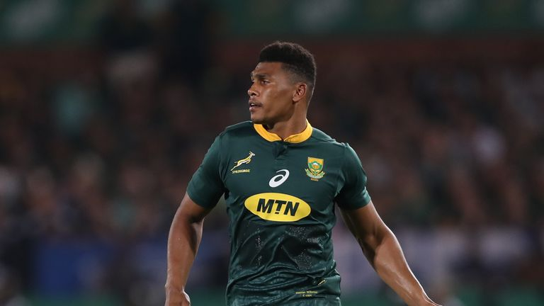 Damian Willemse comes in at No 15 for South Africa