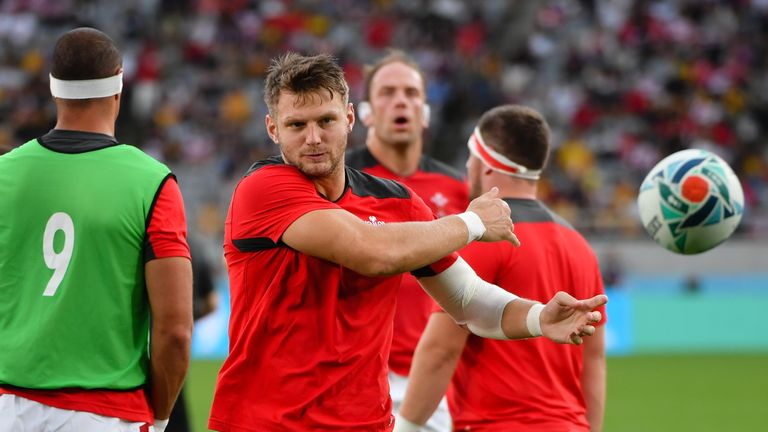 Dan Biggar scored a drop goal in the first minute of the game against Australia before being forced off