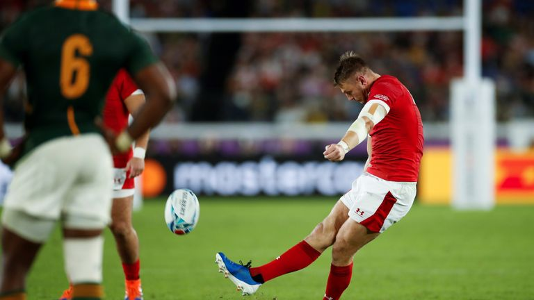 Wales fly-half Dan Biggar and Pollard were the only point scorers in the Test until the 57th minute