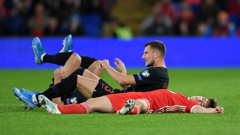 Daniel James appeared to lose consciousness in a game for Wales but did not leave the pitch