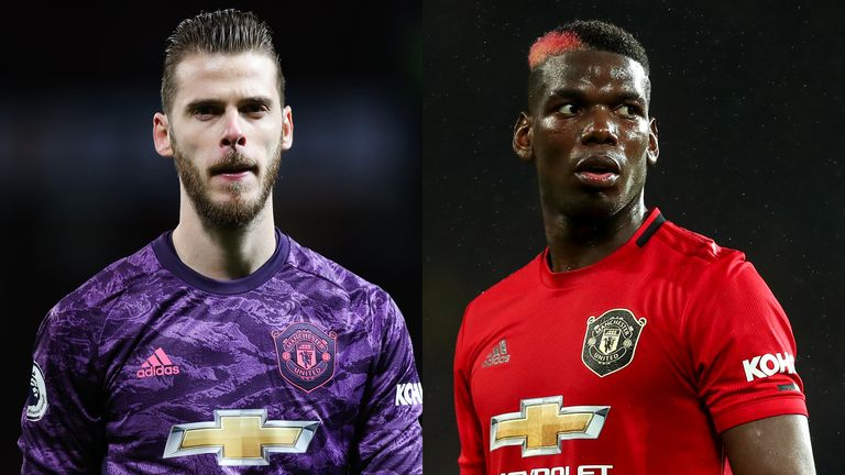 David de Gea and Paul Pogba were absent from training ahead of Manchester United's trip to Partizan Belgrade