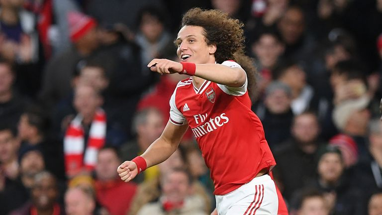 Luiz arrived from Chelsea last summer and has played 32 times for Arsenal