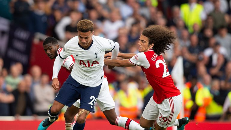 Dele Alli in action against Arsenal earlier this season