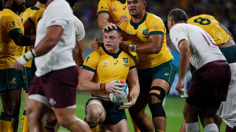 Back-row forward Jack Dempsey scored Australia's third try after a maul try