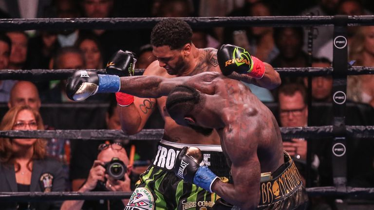 Deontay Wilder KO'd Dominic Breazeale in his previous fight
