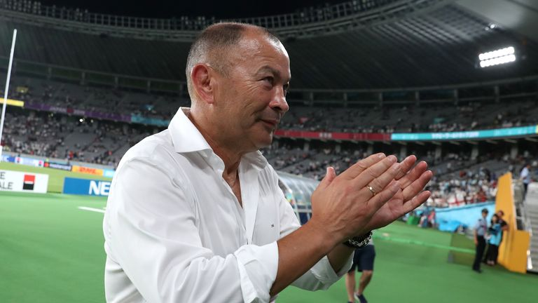 Eddie Jones says having a two-week break before a Rugby World Cup quarter-final is positive
