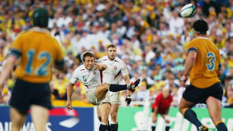 2003 – Jonny Wilkinson drop kicks England to victory – Sydney, Australia [Dave Rogers, Getty Images]