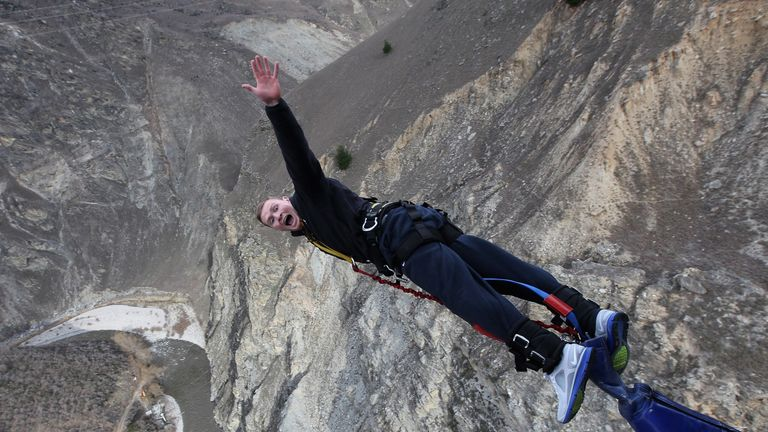 2011 – Chris Ashton bungee jumps – Queenstown, New Zealand [Dave Rogers, Getty Images]