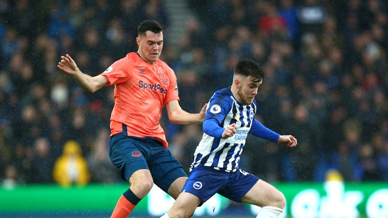 Michael Keane was wrongly penalised against Brighton's Aaron Connolly