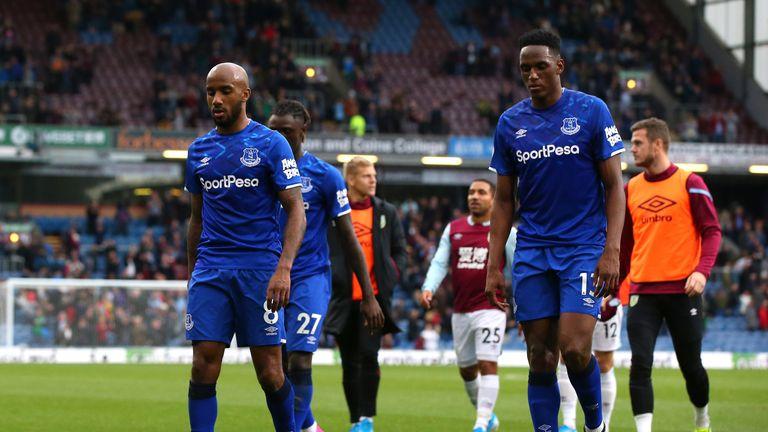 Fabian Delph trudges off after a fourth straight Premier League defeat