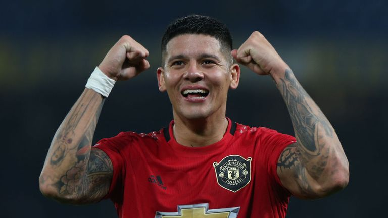 Marcos Rojo has played just 121 minutes of Premier League football this season