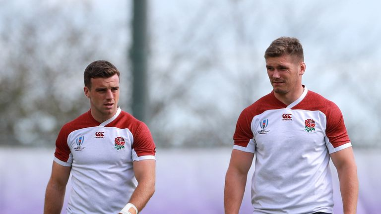 George Ford and Owen Farrell are back at 10 and 12 respectively