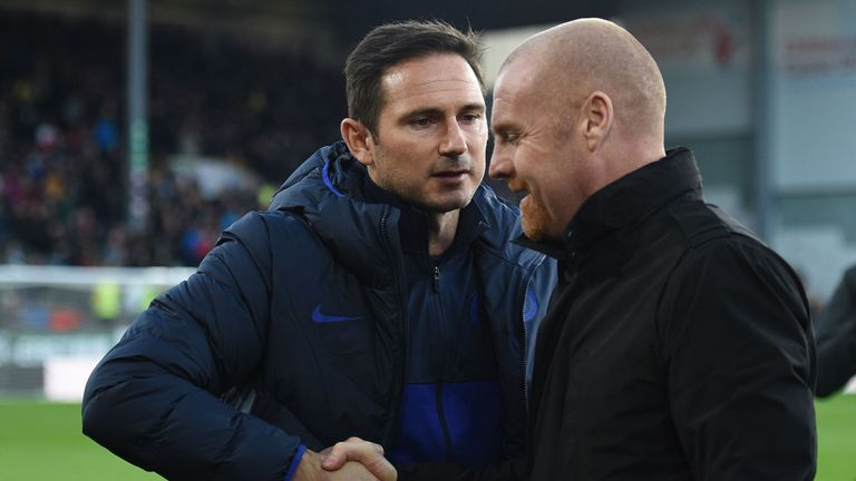 Chelsea head coach Frank Lampard defended Hudson-Odoi after his side's win over Dyche's Burnley