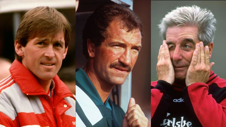 Graeme Souness (centre) and Roy Evans (right) were among those who tried to follow in Kenny Dalglish's footsteps (left)