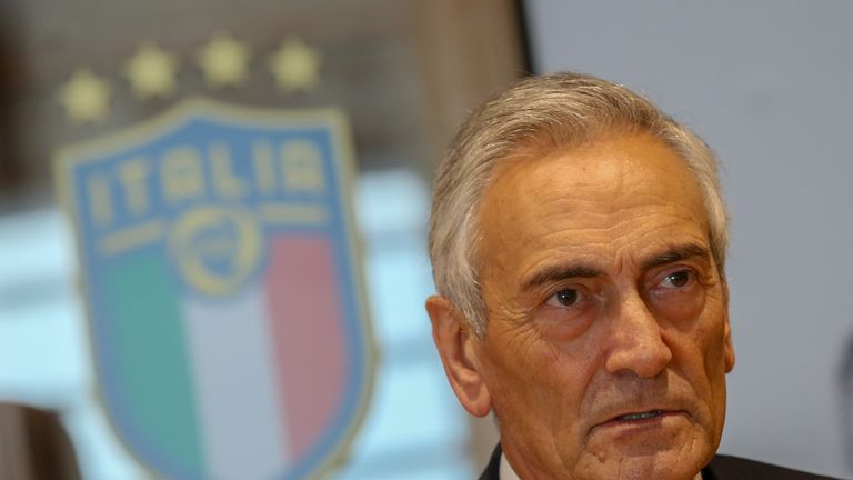 FIGC president Gabriele Gravina wants to clamp down on the number of racist chants in Italian stadiums