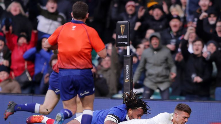 Slade scored a try in England's comfortable Six Nations win against France earlier this year